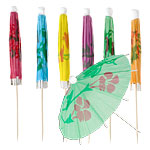 Parasol Drink Picks - 10cm