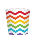 Large Rainbow Scalloped Food Container