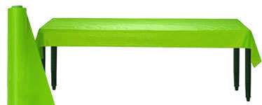 Lime Green Table Roll - 30m Plastic