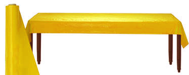 Yellow Table Roll - 30m Plastic