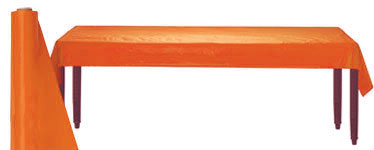 Orange Table Roll - 30m Plastic
