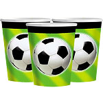 Championship Football Party Paper Cups 266ml