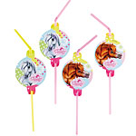 Charming Horses Party Drinking Straws
