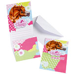 Charming Horses Invitation Cards