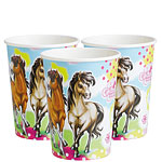 Charming Horses Paper Cups 250ml