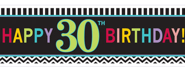 Age 30 Birthday Giant Deep Banner - 1.7m x 0.5m