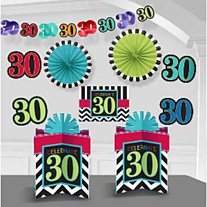 30th birthday decorating kit for 30th birthday decoration packs