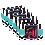 40th Birthday Invites - Party Invitation Cards