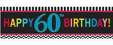 Age 60 Birthday Giant Deep Banner - 1.7m x 0.5m