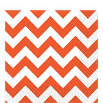 Orange Chevron Luncheon Napkins - 33cm Square 2ply Paper