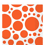 Orange Dot Luncheon Napkins - 33cm Square 2ply Paper
