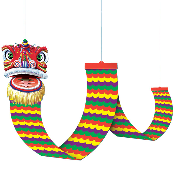 Chinese New Year Dragon Hanging Ceiling Decoration 12ft