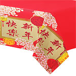 Chinese New Year Plastic Tablecover - 1.37m x 2.59m