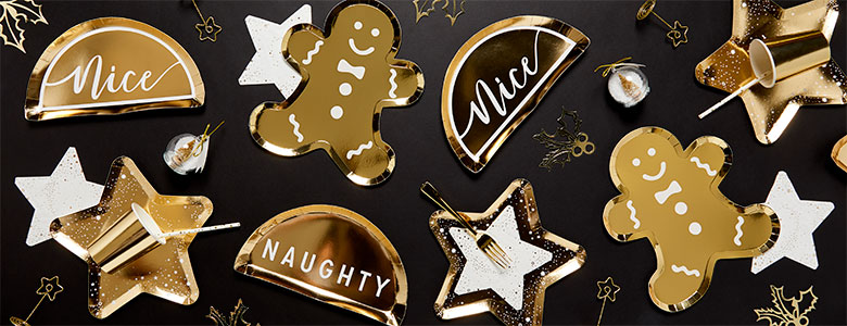 Glitter & Gold Christmas Party Range