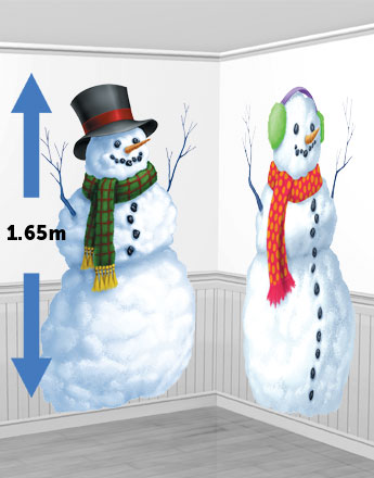 Xmas - Scene Setters Snowmen - 1.65m Christmas Decoration