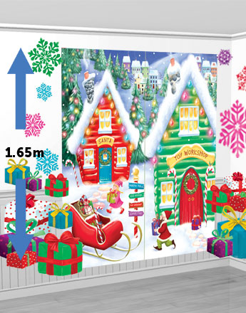 Santa's Workshop Scene Setter Kit - 1.65m