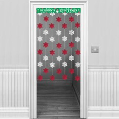 Snowflake Door Curtain - 1.2m Christmas Decoration