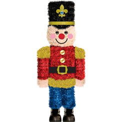 3D Tinsel Nutcracker Decoration - 37cm
