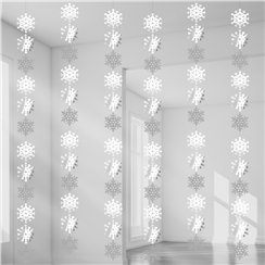 Snowflake Hanging String Decoration - 2.1m