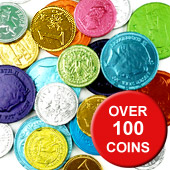Assorted Coloured Chocolate Coin Net £4.99 per net (400g / 14.11oz)