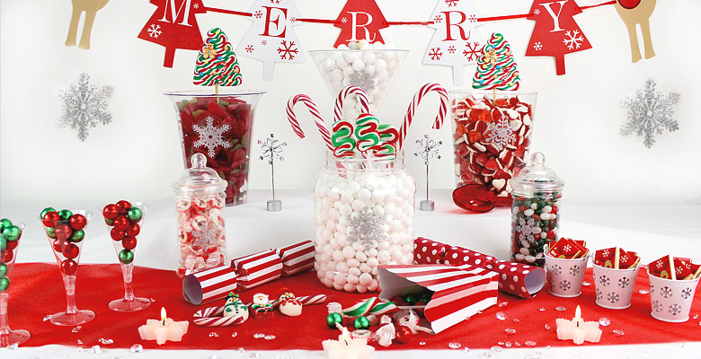Christmas Candy Buffet | Woodies Party