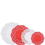 Red & White Paper Doilies