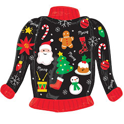 "Christmas Jumper - SuperShape 31"" Foil"