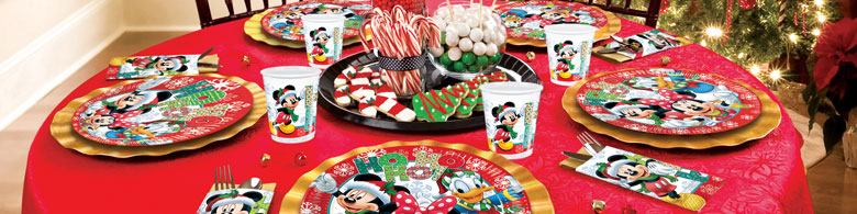 mickey mouse christmas party supplies