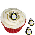 Penguin Sugar Cake Toppers - 2.5cm
