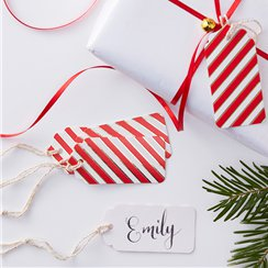 Merry & Bright Foil Gift Tags - 7.5cm