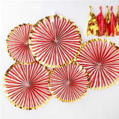 Merry & Bright Foiled Paper Fans