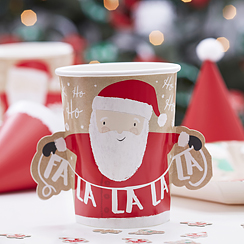 Santa and Friends Paper Cups - 255ml