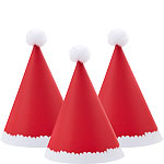 Mini Santa Pom Pom Party Hats