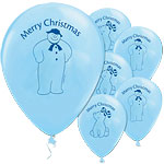 "Snowman & Snowdog Merry Christmas Balloons - 12"" Latex"