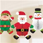 Christmas Character Honeycomb Decorations