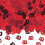 40th Anniversary Red Table/Invite Confetti