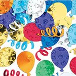 Party Balloons Table/Invite Confetti