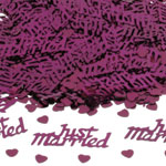 Just Married Table/Invite Confetti - Burgundy