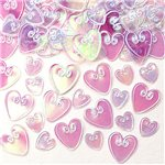 Iridescent Loving Hearts Table/Invite Confetti