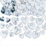 Loving Hearts Table/Invite Confetti - Silver