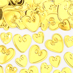 Gold Loving Hearts Table/Invite Confetti