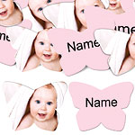 Baby Pink Butterfly Personalised Confetti