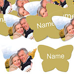 Gold Butterfly Personalised Confetti