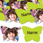 Lime Green Butterfly Personalised Confetti