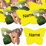 Yellow Butterfly Personalised Confetti