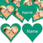 Emerald Heart Personalised Confetti