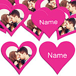 Hot Pink Heart Personalised Confetti