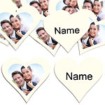 Ivory Heart Personalised Confetti