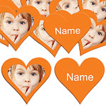 Orange Heart Personalised Confetti