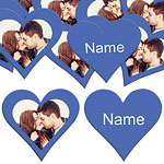 Royal Blue Heart Personalised Confetti